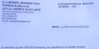 Χρέη ΔΕΥΑ Παγγαίου.