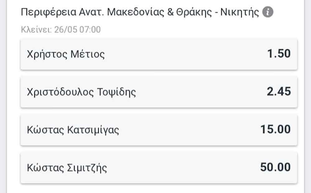 tsanaka metios 03 - Καθαρή νίκη σε Τσανάκα και Μέτιο δίνουν οι στοιχηματικές