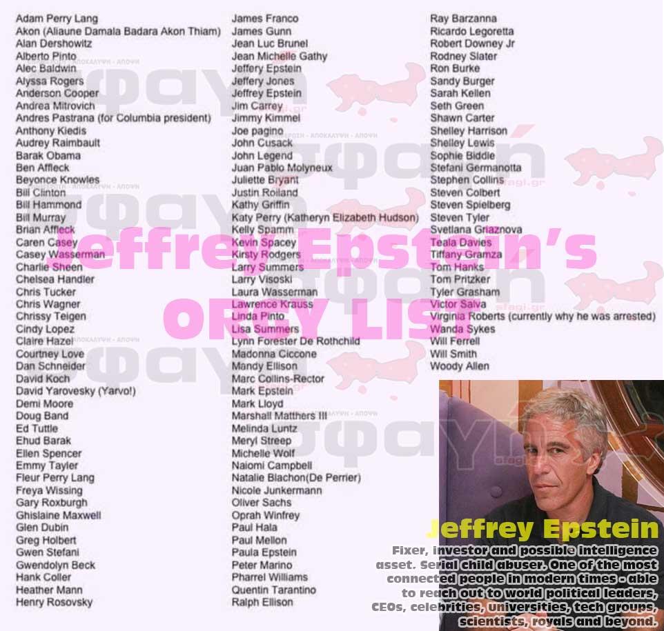 Jeffrey epstein orgy list - Σύλληψη Τομ Χανκς για παιδεραστία