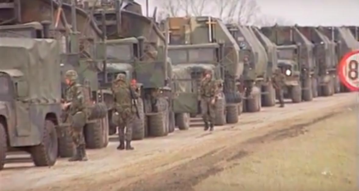 croatia convoy - 20.000 στρατιώτες φτάνουν για να «καθαρίσουν» τον κορονοϊό