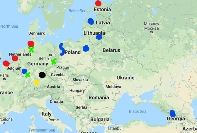 defender europe map - 20.000 στρατιώτες φτάνουν για να «καθαρίσουν» τον κορονοϊό