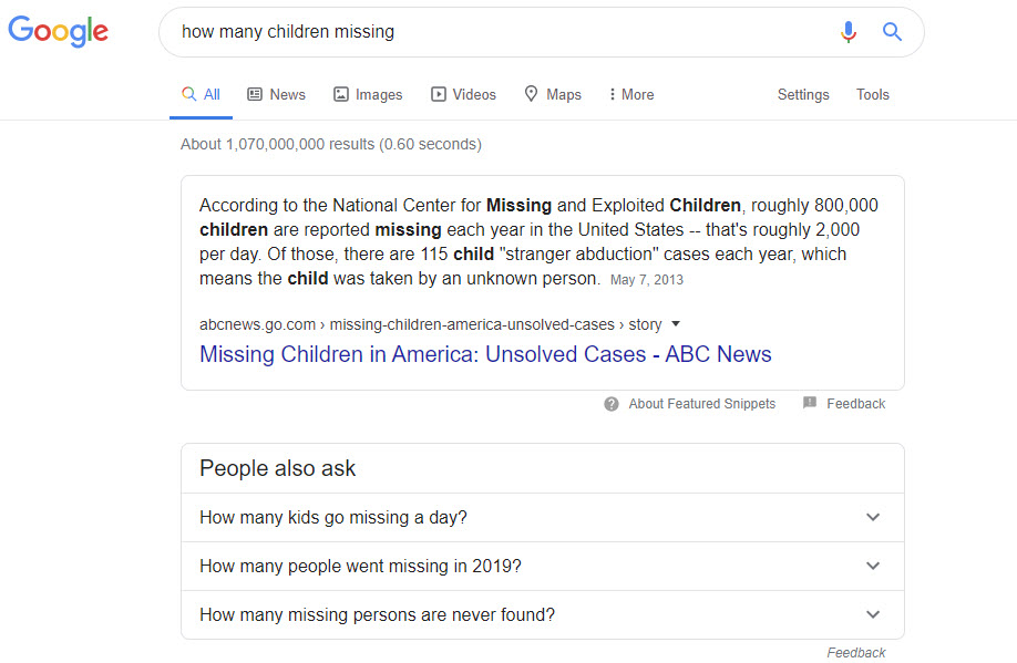 missing children google - Coronavirus: All the Truth That Wouldn't Tell You in Systemic Media