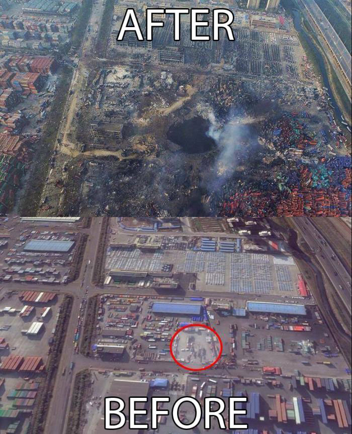 the tianjin blast crater after the epic explosion - Coronavirus: All the Truth That Wouldn't Tell You in Systemic Media