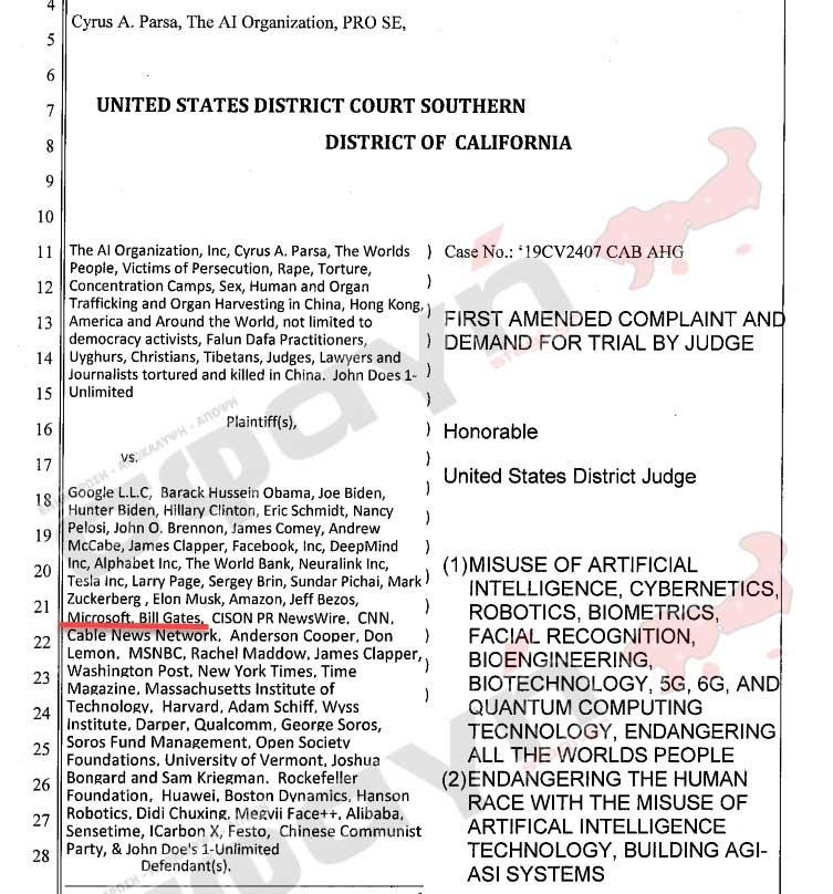 bill gates fauci judgement day 03 - Ορίστηκε η δίκη για Bill Melinda Gates Antony Fauci, WHO και CDC