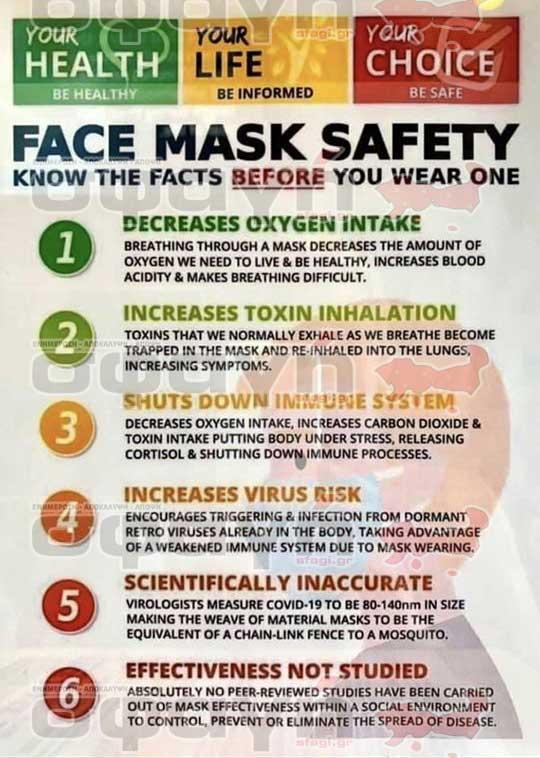 maska koronoiou covid 19 mask 04 - Υποχρεωτική χρήση μάσκας για covid-19, μέτρο παράνομο και ανθυγιεινό