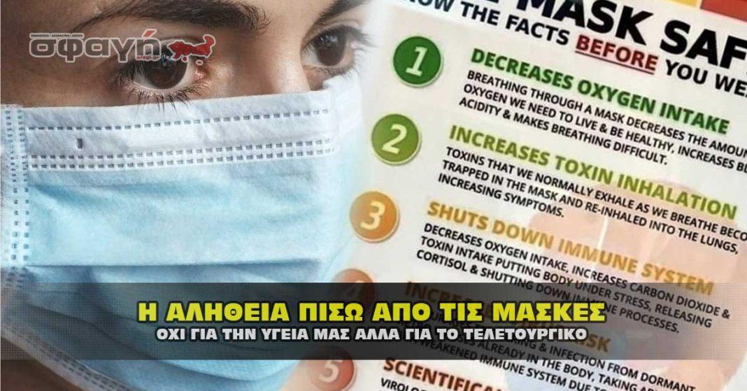 Υποχρεωτική χρήση μάσκας για covid-19, μέτρο παράνομο και ανθυγιεινό